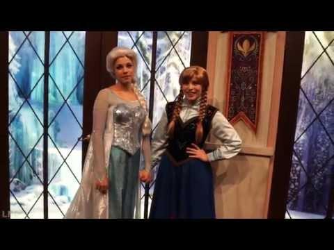 [V.1] Anna and Elsa Interactive characters meet and greet California Adventure park