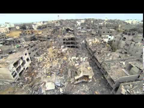 Nye drone-optagelser viser bombet Gaza - 21 Søndag