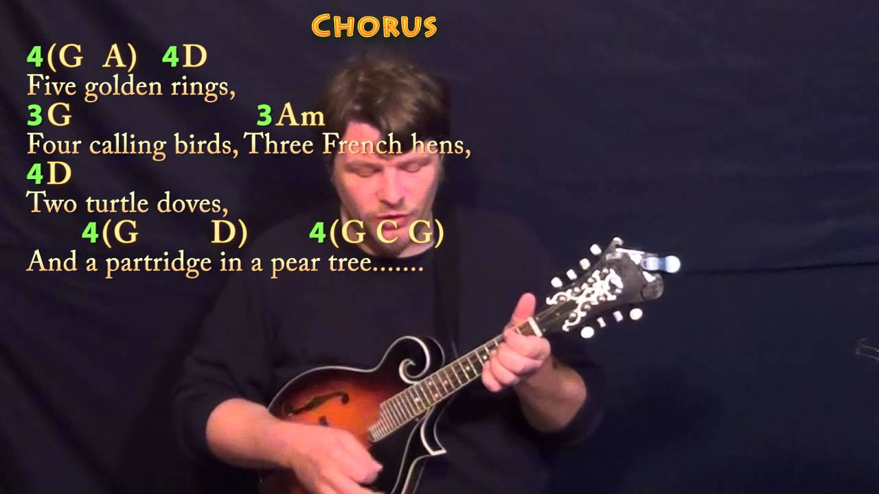 The 12 days of christmas mandolin cover lesson in g with chords the 12 days of christmas mandolin cover lesson in g with chordslyrics youtube hexwebz Images