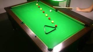 1er Exercice billard 8 pool anglais blackball (passez entre sans  toucher ni faire de bandes)