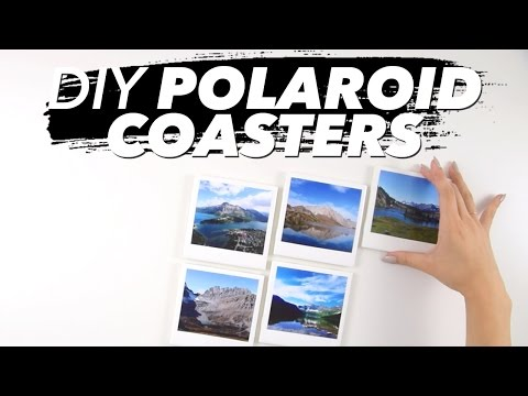 How to Make Polaroid Coasters! (Easy) | WITHWENDY