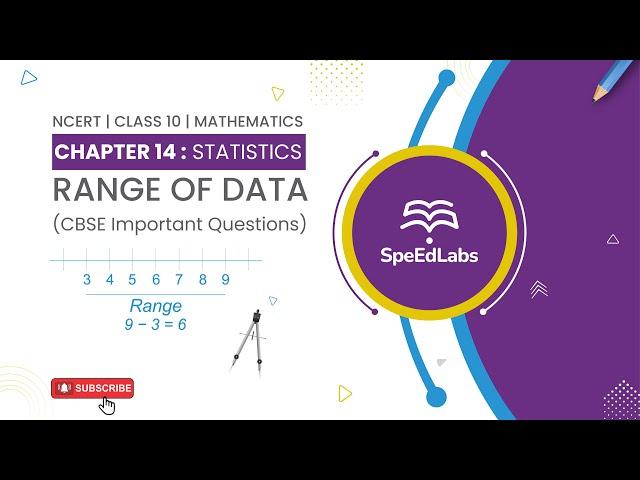 NCERT Class10 Mathematics Chapter 14 : Statistics|Range of Data| CBSE Important Questions