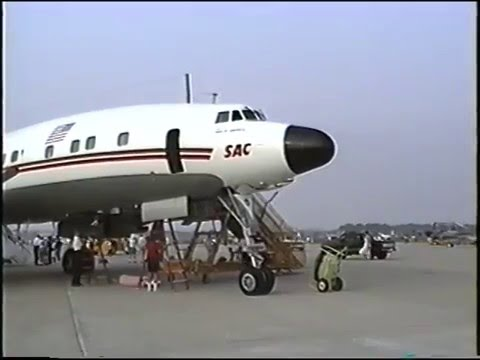 """TWA"" Super ""G"" Constellation takeoff &  flight NAS Glenview to Kansas City, Aug. 1991"