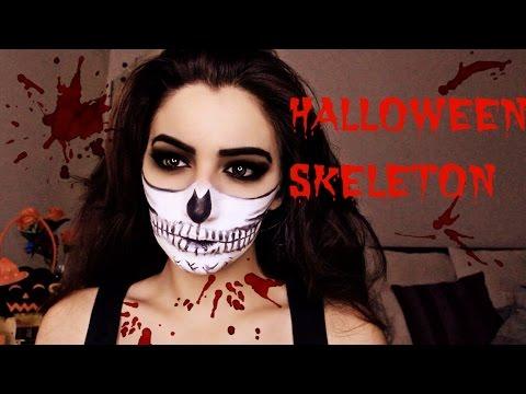 squelette maquillage facile skeleton make up sonia. Black Bedroom Furniture Sets. Home Design Ideas