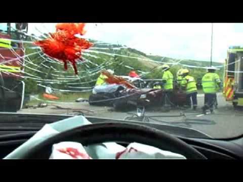 Texting While Driving >> 'Cow' Texting while driving PSA - Car Crash Scene - Music Stuart Fox - YouTube