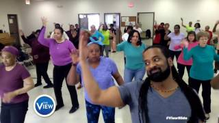Maureen Collier Senior Center Rocks The #ViewSlide | The View