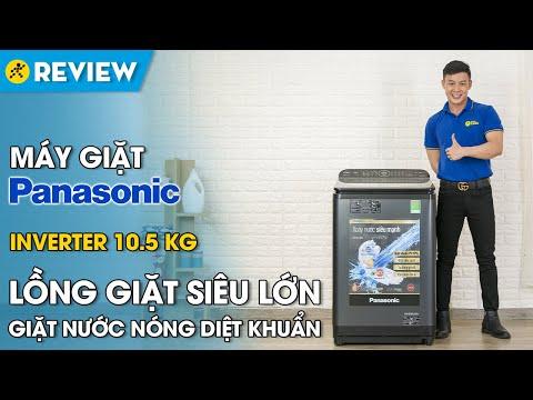 Máy giặt Panasonic 10,5 ký: lồng giặt lớn, có giặt nước nóng (NA-FD10VR1BV) • Điện máy XANH