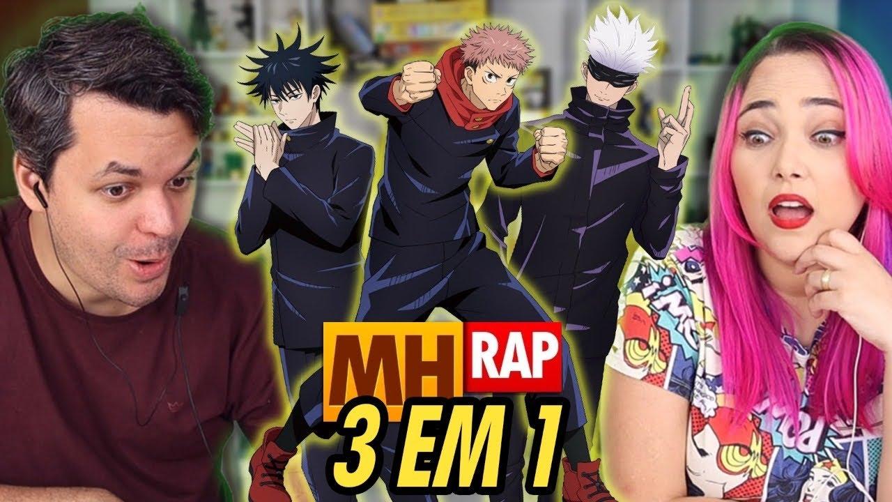 REACT 3 em 1 Vibe Itadori, Vibe Satoru Gojo e Vibe Megumi Fushiguro ⚫ (Jujutsu Kaisen) (MHRAP)