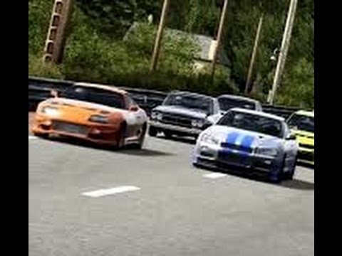 Paul Walker's Toyota Supra Vs 2 Fast 2 Furious Nissan Skyline R34 GTR
