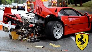 Il se crash avec sa Ferrari de location !
