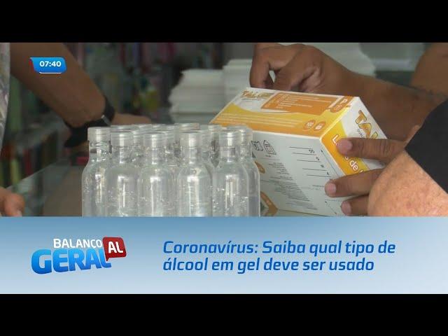 Coronavírus: Saiba qual tipo de álcool em gel deve ser usado