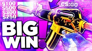 CSGO WINNING X5 NEW SPECTRUM KNIVES MARBLE FADE + $3000 ON CSGOROLL GAMBLING!! (CS:GO)