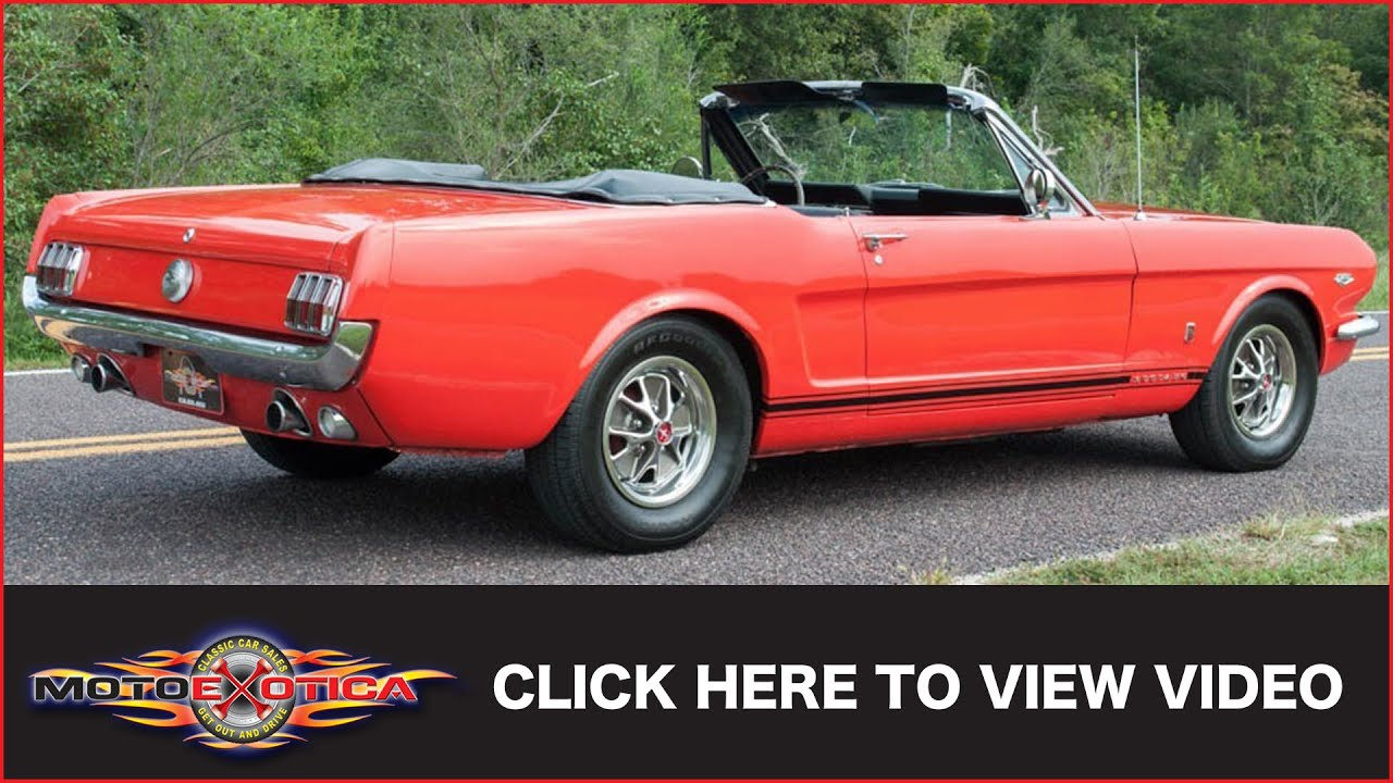1966 ford mustang gt convertible sold youtube rh youtube com