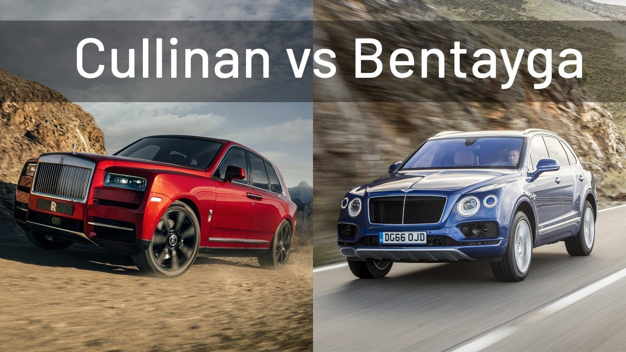 Suv Battle Rolls Royce Cullinan Vs Bentley Bentayga Youtube