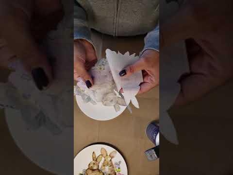 DIY Easter decorative plates 🐇 decoupage Walmart paper napkins 🐣