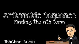 8. Finding the nth term in an Arithmetic Sequence (BISAYA)