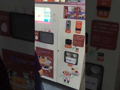 HM736 Robotic Vending Machine,Multifunction Coin Operated Ice Cream Vending Machine