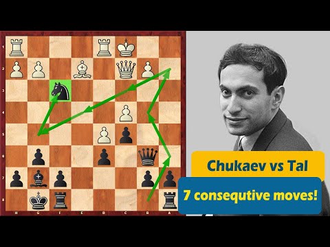 Mikhail Tal Is Making 7 Consecutive Moves With A Knight