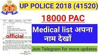 UPP 18000 PAC Medical list | UPP PAC charitr satyapn | Up police PAC Training