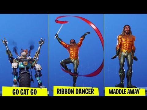 *NEW* All Leaked Fortnite Season 3 Emotes (GO CAT GO,Ribbon Dancer,Penguin Walk)