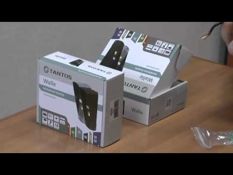 видео: Вызывная видеопанель домофона tantos walle
