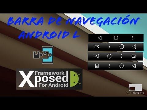 Barra De Navegación Android L | Xposed: Navigation Bar
