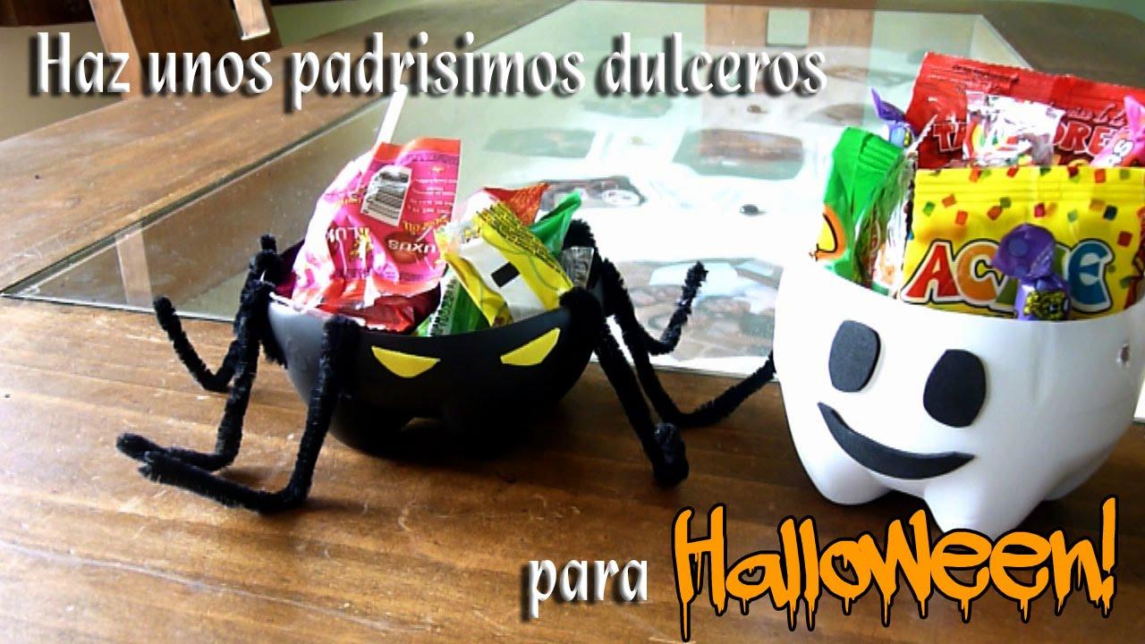 Como hacer unos dulceros para halloween con botellas de - Cosas de halloween para hacer en casa ...