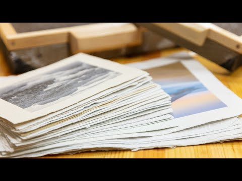 Paper Making 02: Paper Making 【木工】手抄紙製作02 造紙