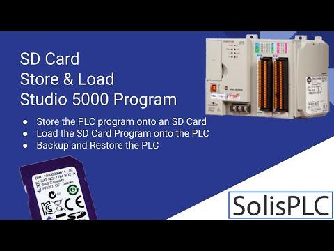 PLC SD Card | Load Restore PLC Program CompactLogix ControlLogix Allen Bradley Studio 5000 Tutorial