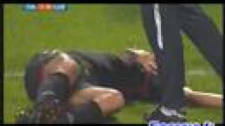 convulsions de Milan Baros OL - Lens
