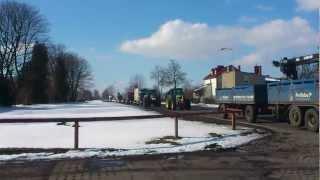 protest rolników w Szczecinku 14 marca 2013 powrót traktorów