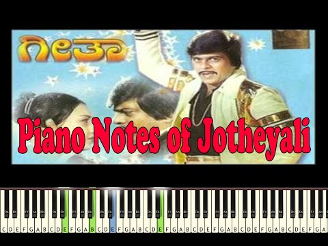Jotheyali (Geetha) Piano Notes-Music Sheet-Midi File
