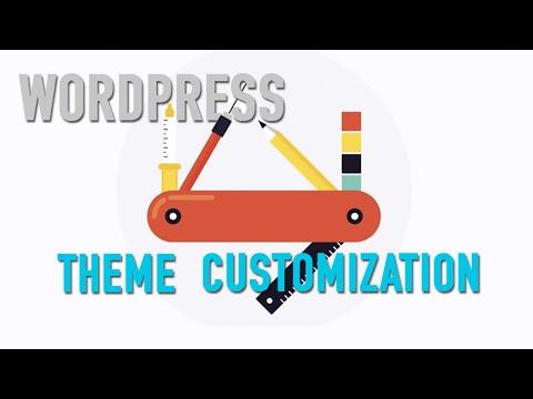 WordPress Theme Customization Tutorial - 동영상