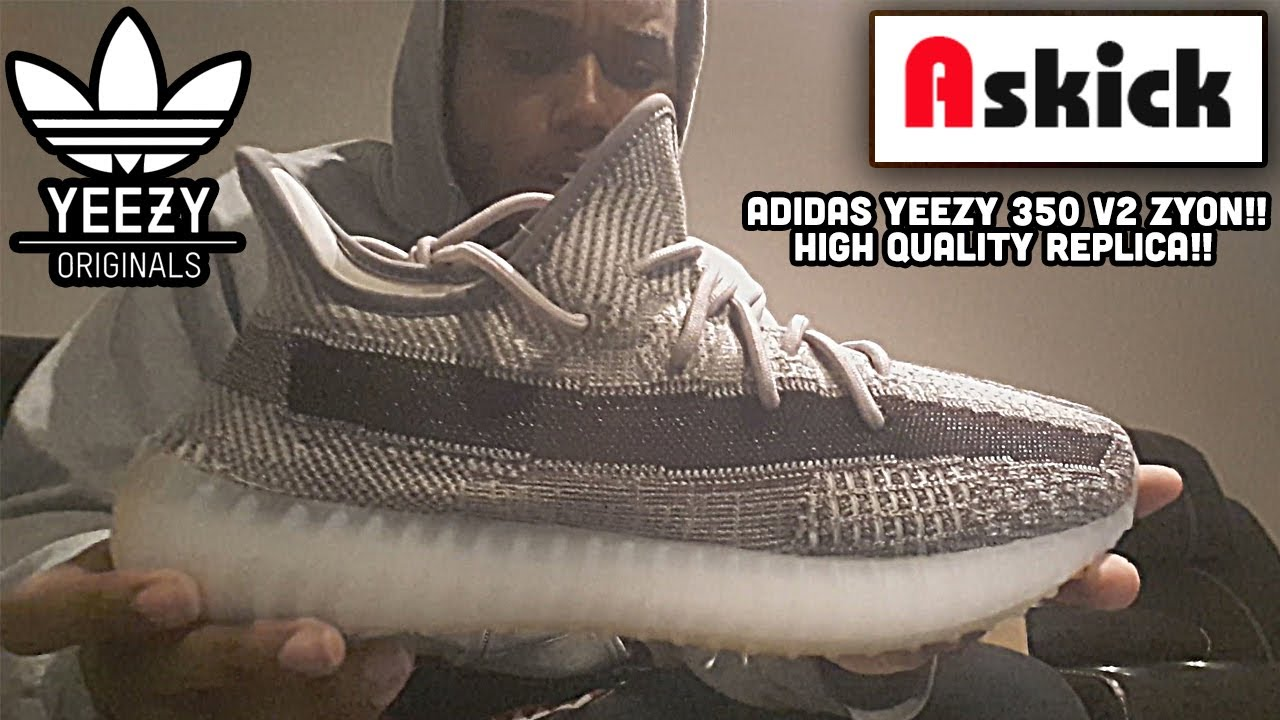 no pueden ver montón Discurso  Adidas Yeezy 350 V2 ZYON From ASKICK! $176 GIFTED 1:1 REPLICA!! (Review &  On Foot) - YouTube