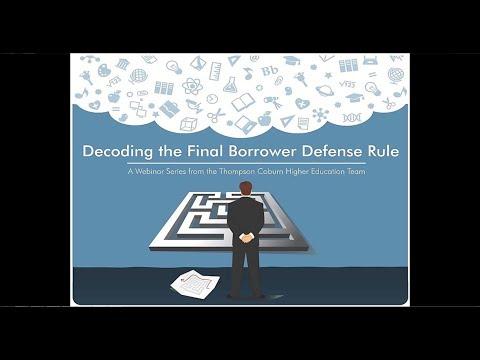 The New Borrower Defense Framework