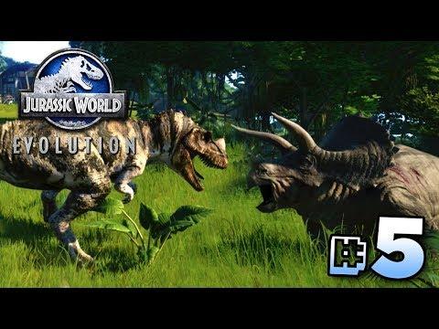 DINOSAUR BATTLE ARENA! - Jurassic World Evolution   Ep5