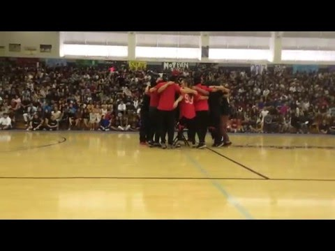 Moanalua High School Drug Free Assembly 2015 - Chairleaders