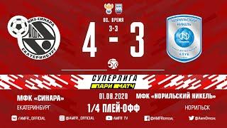 Париматч Суперлига 1 4 плей офф Синара Норильский никель 4 3 Матч 1