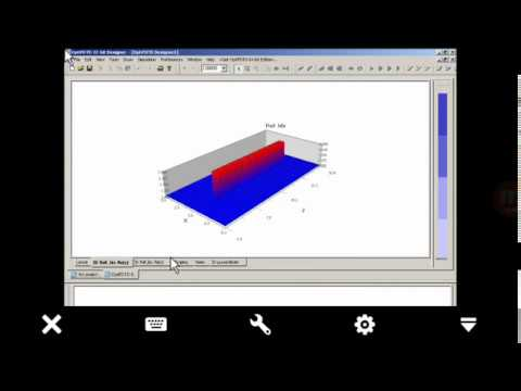 Opti FDTD programme  easy tutorial for optics application (photonic crystal)