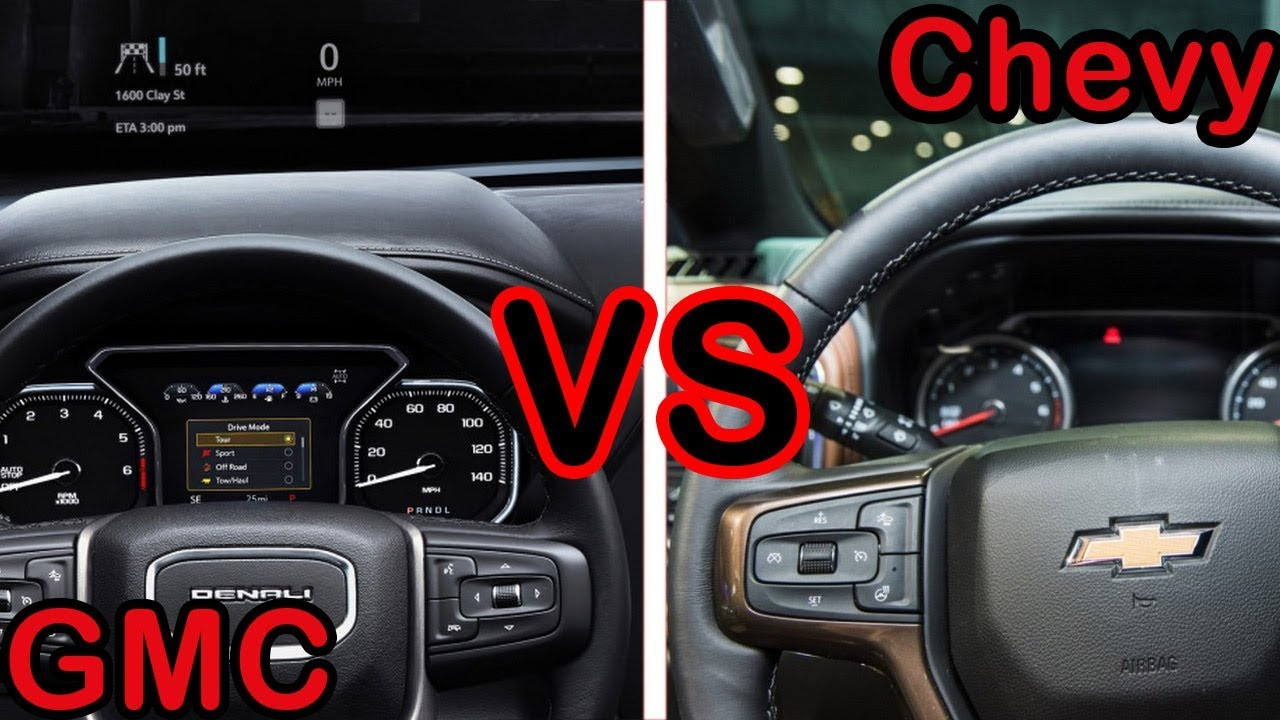 2019 GMC Sierra Interior vs 2019 Chevy Silverado Interior ...