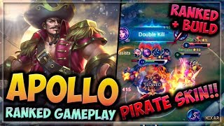 HEROES EVOLVED - APOLLO BUILD | PYRATE MARQUIS SKIN | RANKED GAMEPLAY!! - PIRATE SKIN