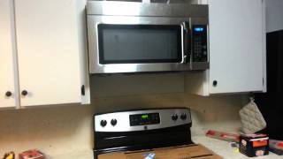 Installing an Over the Range Microwave Oven