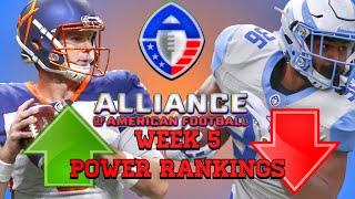 Alliance Of American Football Week 5 Power Rankings|AAF|NFL