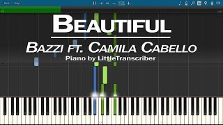 Bazzi - Beautiful (Piano Cover) ft. Camila Cabello Synthesia Tutorial by LittleTranscriber