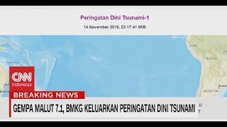 Breaking News! Gempa Malut Magnitudo 7,1,Berpotensi Tsunami