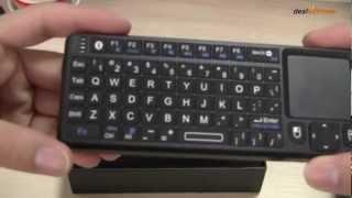 rii rt mwk02 mini wireless bluetooth keyboard w touchpad laser pointer backlight dx