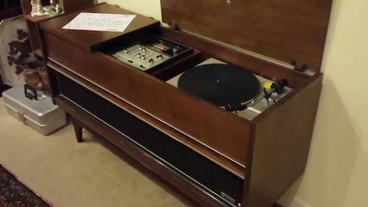 Vintage Mid Century Stereo JVC Nivico Perfect Stereo 4TR-990 Deluxe w Akai  AP-B20 Upgrade