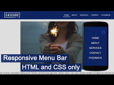 Responsive Navigation Bar Using HTML And CSS Only   Responsive Menu Bar [HTML] [CSS]
