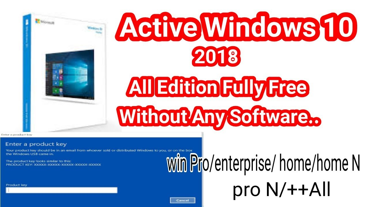 windows 10 pro n product key 2018 free
