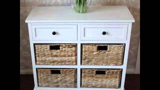 Storage unit, wicker drawers, hallway, kitchen ebay . , . . . . Large white storage unit, wicker drawers, hallway, kitchen, bathroom